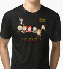 Buffy the Vampire Slayer as South Park Tri-blend T-Shirt