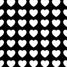 Minimal Heart Black & White Phone Case by Mhaddie