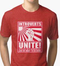 Introverts Unite! Tri-blend T-Shirt