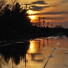 Sunset Road Reflections by mnkreations