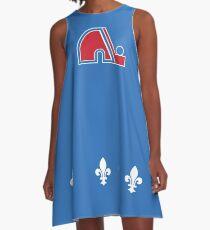 Nordiques Quebec Hockey Team Avalanche Vintage with fleurs de lys A-Line Dress