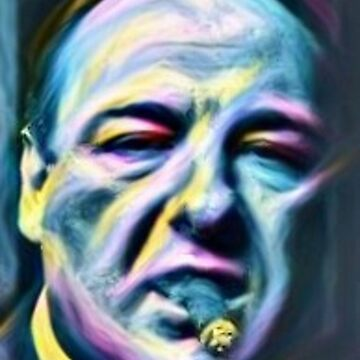 James Gandolfini Tony Sopranos mafia gangster painting by xsdni999