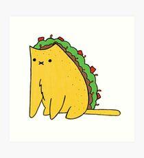 Tacocat: the cat who is a taco Art Print