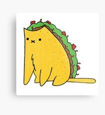 Tacocat: the cat who is a taco Metal Print