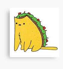 Tacocat: the cat who is a taco Canvas Print