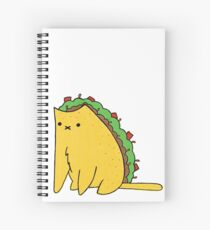 Tacocat: the cat who is a taco Spiral Notebook