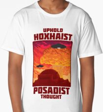 'Uphold Hoxhaist-Posadist Thought' - t-shirts etc. Long T-Shirt