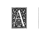 ornamental letter A by coralZ