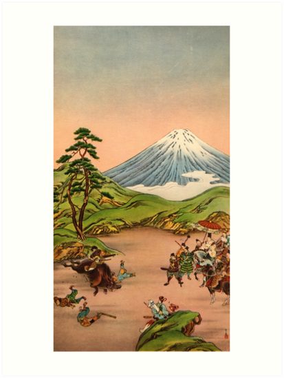 Samurai battle at Mt Fuji by Fletchsan