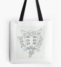 own design Cat with 6 eyes Point of View Tote Bag