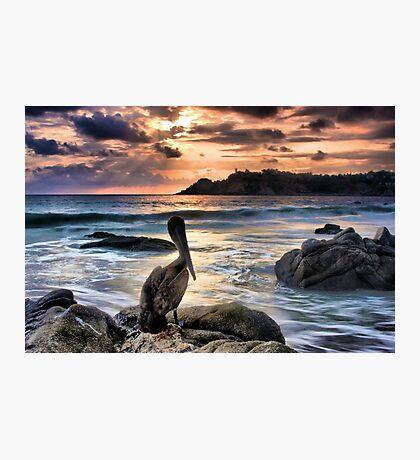 Sunset in Puerto Escondido Photographic Print