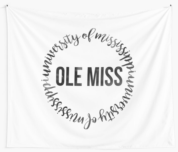 Ole Miss University Of Mississippi Rebels Ink Circle By Eva Phan