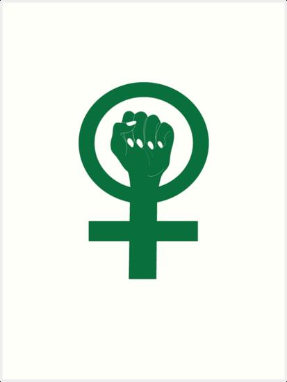 Grüne Venus-Symbol-Solidaritäts-Widerstand-Faust\