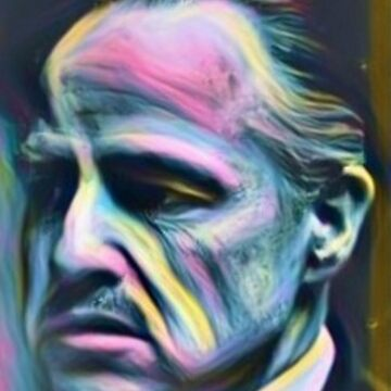 Marlon Brando Godfather mafia gangster painting by xsdni999