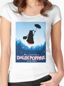 Dalek Poppins  Women's Fitted Scoop T-Shirt