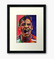 Alexis Sanchez & Mesut Ozil  Framed Print