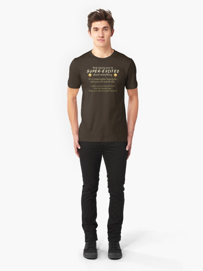 Alternate view of Super-Excited Slim Fit T-Shirt