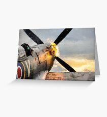 Spitfire FIRING UP - Fantastic Spitfire WWII art - world war 2 art / aviation art Greeting Card
