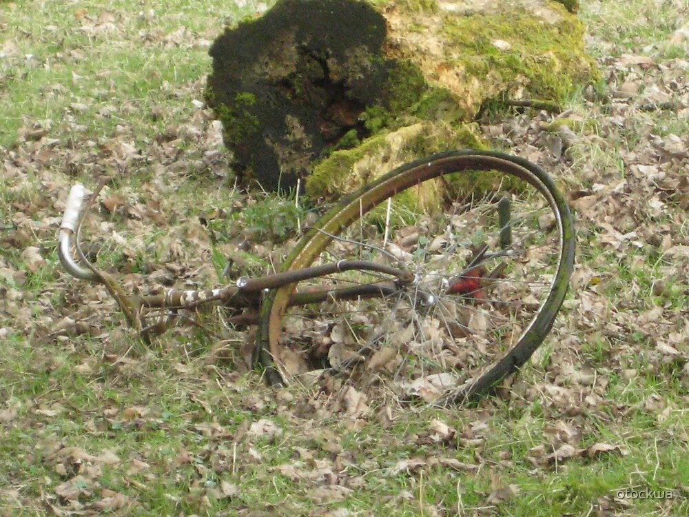 earth eats bike by otockwa