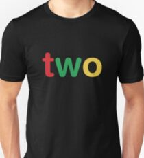 Two Kids 2nd Birthday Shirts For Boys Unisex T Shirt