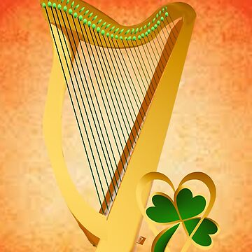 Biig Irish Harp and Heart Of Gold by Lotacats