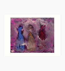 3 People in a fog Art Print