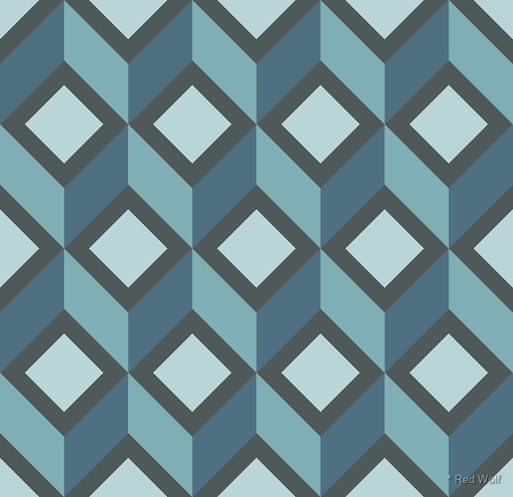 Geometric Pattern: Diamond Chevron: Steel by * Red Wolf