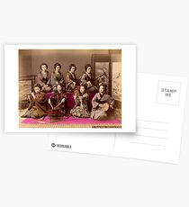 Group of Geisha playing music Postcards