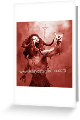 'Dio- ablo - The Devil you know' Greeting Card by Alleycatsgarden
