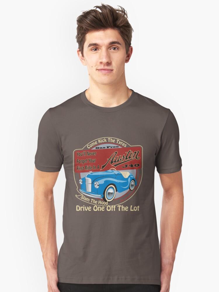 Austin J40 Pedal Car Child/'s T-Shirt Classic Retro Distressed Design Nice Gift