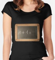 First Mathematics Lesson Women's Fitted Scoop T-Shirt