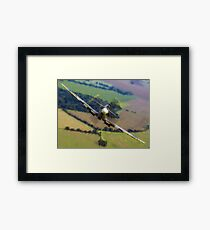 "Spitfire ""Coming UP Fast"" Fantastic  Spitfire WW2 art / aviation / military Framed Print"