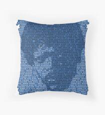 Jules Winnfield in Blue Throw Pillow