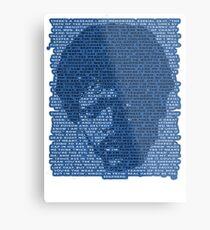 Jules Winnfield in Blue Metal Print