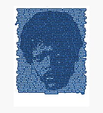 Jules Winnfield in Blue Photographic Print