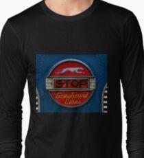 GMC PD 3751 Greyhound Bus stop sign (1947) Long Sleeve T-Shirt