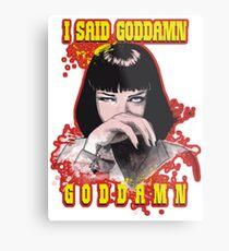 Uma Thurman, Pulp Fiction Metal Print