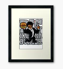 Jules - Tasty Burger Framed Print