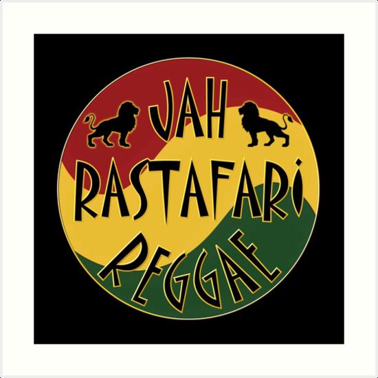 Jah Rastafari Reggae Art Prints By Barminam Redbubble Fascinating Fotos Rastafari Reggae