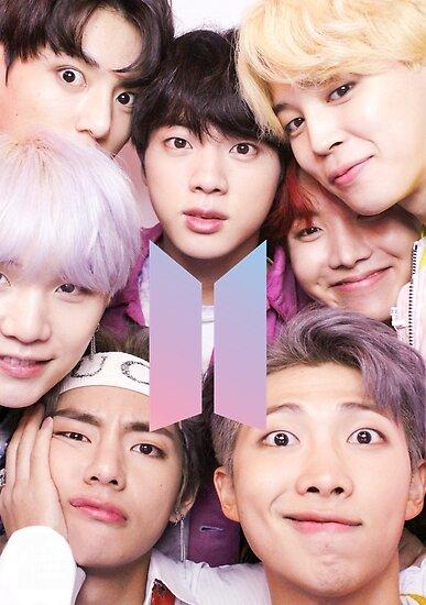 «BTS Group PHOTO Case / Poster ECT (Selfie) con logotipo» de KpopTokens