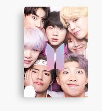 BTS Group PHOTO Case / Poster ECT ( Selfie ) With Logo 2018 Metal Print