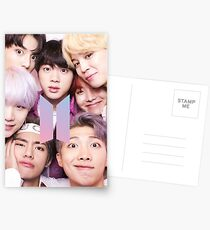 BTS Group PHOTO Case / Poster ECT ( Selfie ) With Logo 2018 Postcards
