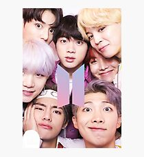 BTS Group PHOTO Case / Poster ECT ( Selfie ) With Logo 2018 Photographic Print
