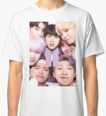 BTS Group PHOTO Case / Poster ECT ( Selfie ) With Logo 2018 Classic T-Shirt