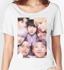 BTS Group PHOTO Case / Poster ECT ( Selfie ) With Logo 2018 Women's Relaxed Fit T-Shirt