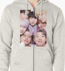 BTS Group FOTO Case / Poster ECT (Selfie) mit Logo Hoodie mit Reißverschluss