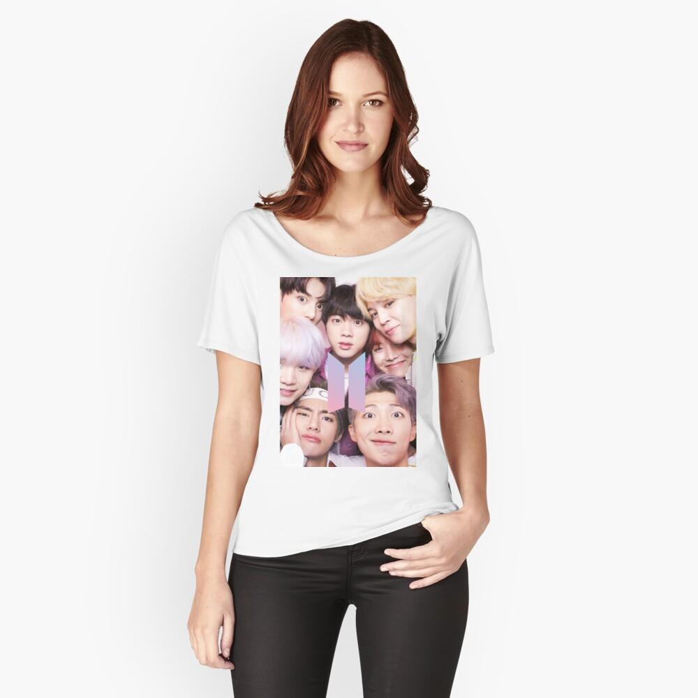 BTS Group PHOTO Case / Poster ECT (Selfie) con logotipo Camiseta ancha