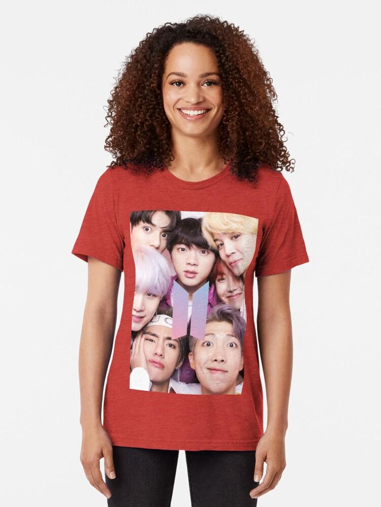Vista alternativa de Camiseta de tejido mixto BTS Group PHOTO Case / Poster ECT (Selfie) con logotipo