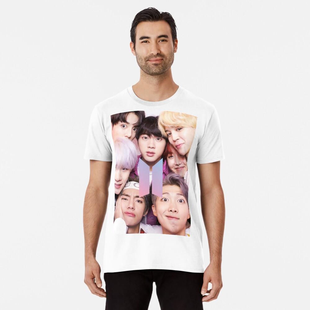 BTS Group PHOTO Case / Poster ECT (Selfie) con logotipo Camiseta premium