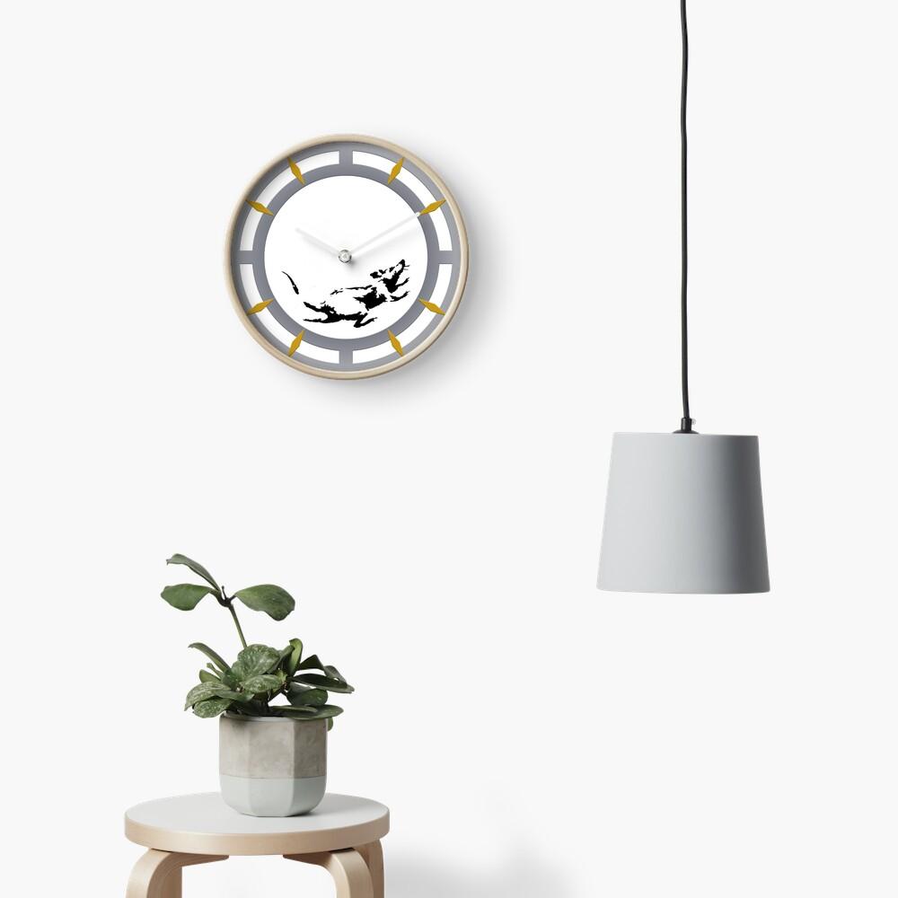 Reloj inspirado en el reloj de raton Banksy Reloj